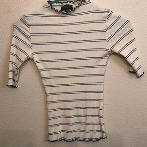 Roolee Quarter Sleeve Striped Shirt